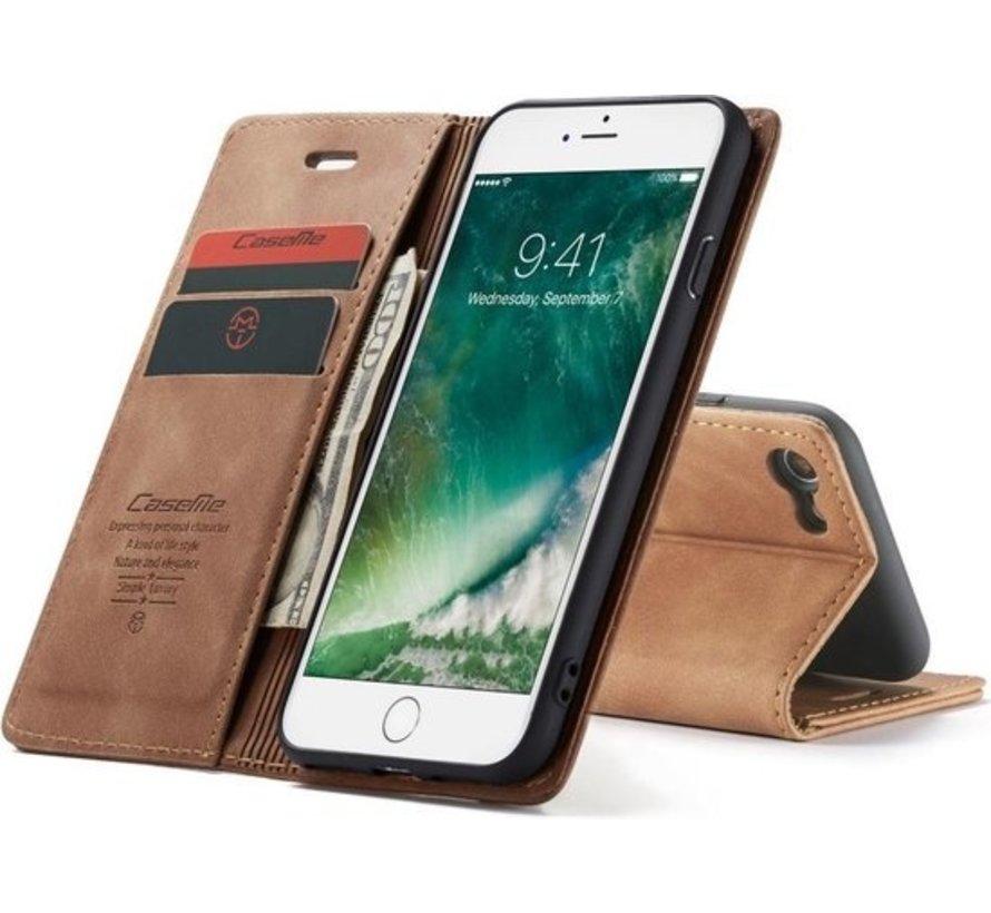 CaseMe Luxe bookcase iPhone SE 2020 (bruin)
