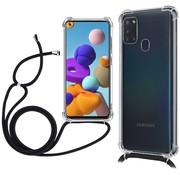 ShieldCase® Samsung Galaxy A21s shock hoesje met koord