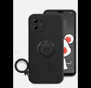 ShieldCase® iPhone 11 siliconen hoesje met ring (zwart)