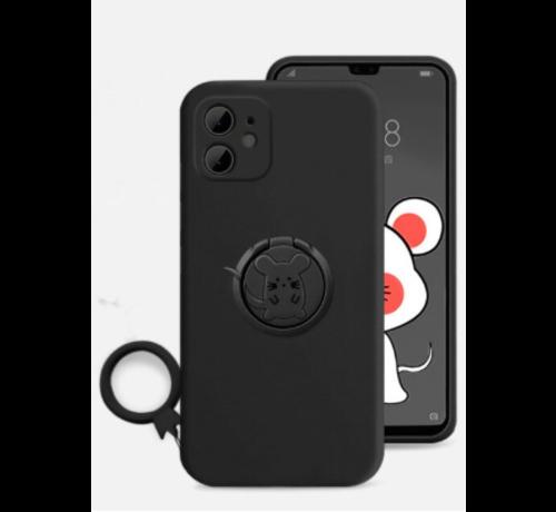 ShieldCase® Shieldcase iPhone 11 siliconen hoesje met ring (zwart)