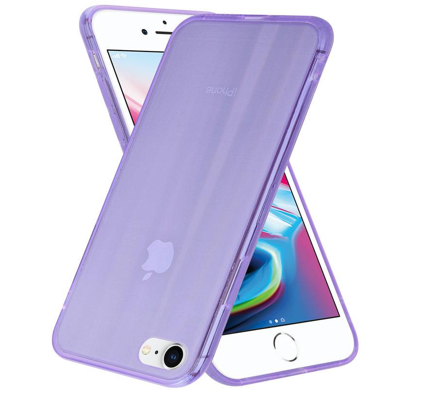 Shieldcase Gekleurde laser case iPhone 8 / 7 (paars)