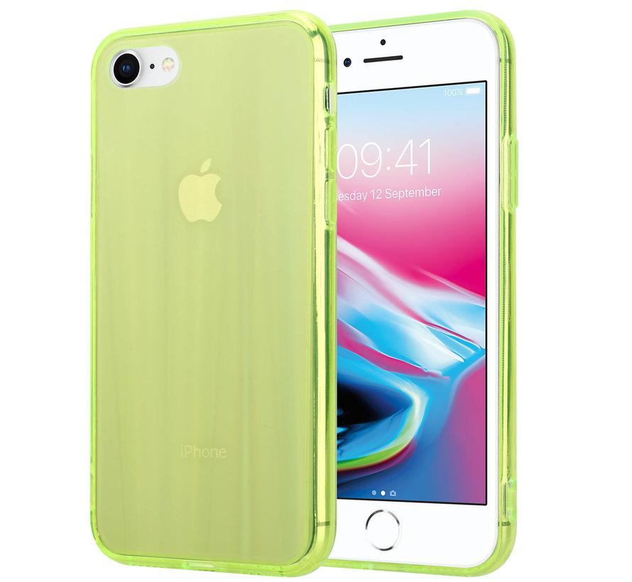 Shieldcase Gekleurde laser case iPhone 8 / 7 (groen)
