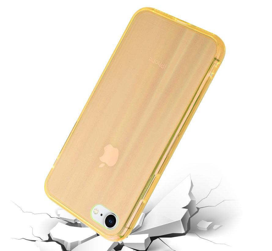 Shieldcase Gekleurde laser case iPhone 8 / 7 (oranje)
