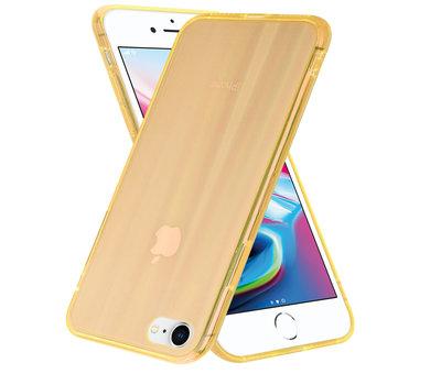 ShieldCase® Shieldcase Gekleurde laser case iPhone SE 2020 (oranje)