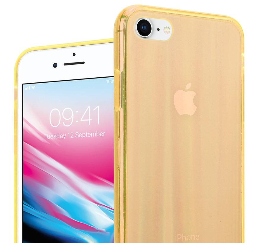 Shieldcase Gekleurde laser case iPhone SE 2020 (oranje)