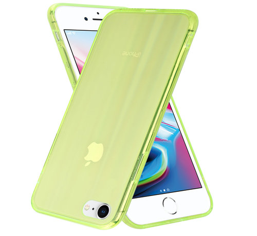 ShieldCase® Shieldcase Gekleurde laser case iPhone SE 2020 (groen)
