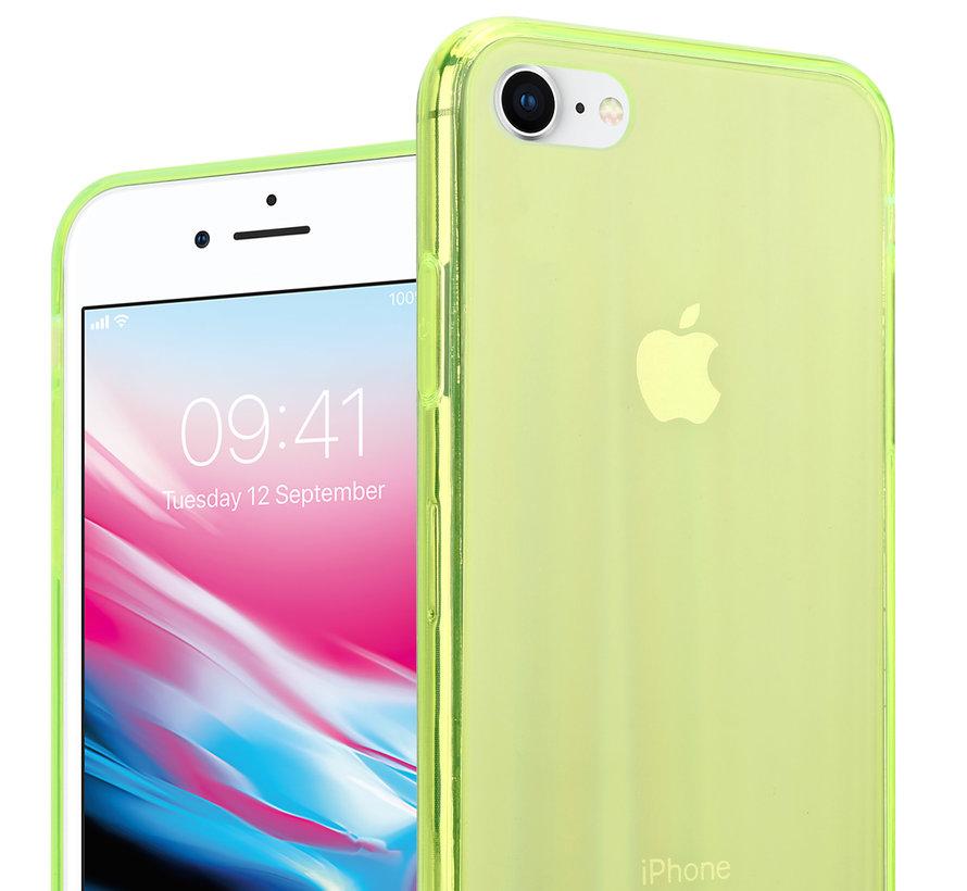 Shieldcase Gekleurde laser case iPhone SE 2020 (groen)