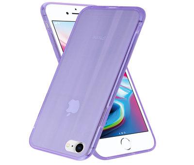 ShieldCase® Shieldcase Gekleurde laser case iPhone SE 2020 (paars)