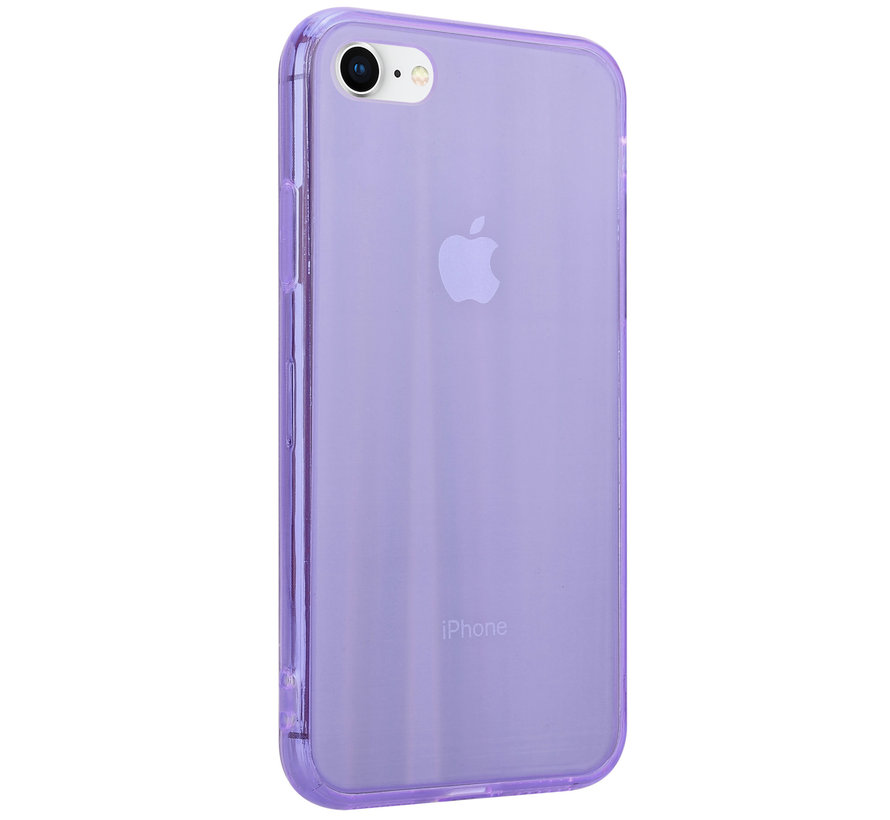 Shieldcase Gekleurde laser case iPhone SE 2020 (paars)