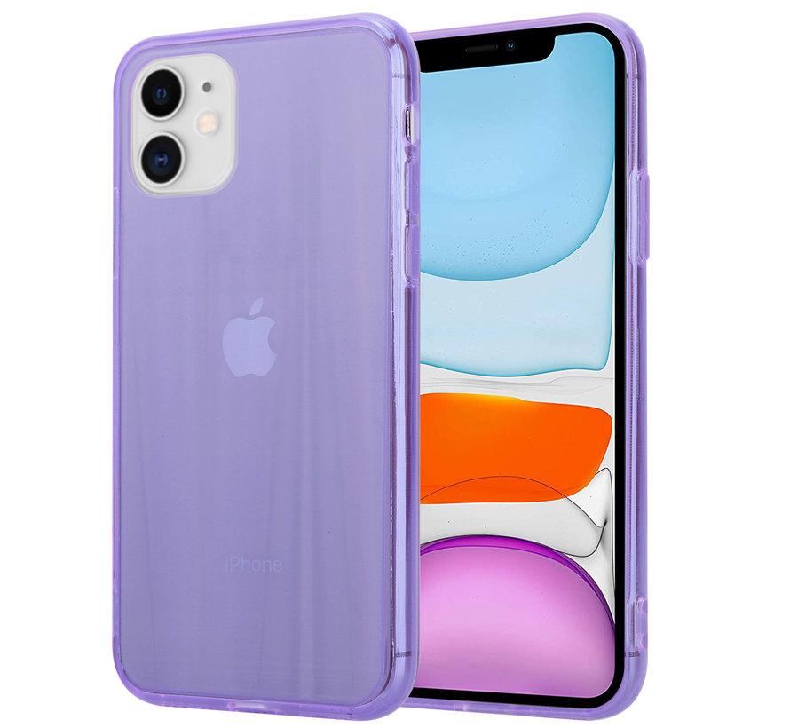 Shieldcase Gekleurde laser case iPhone 11 (paars)