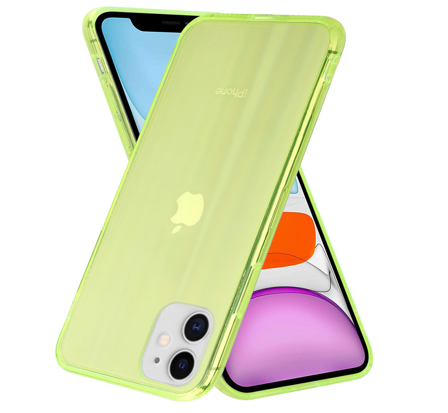 Shieldcase Gekleurde laser case iPhone 11 (groen)