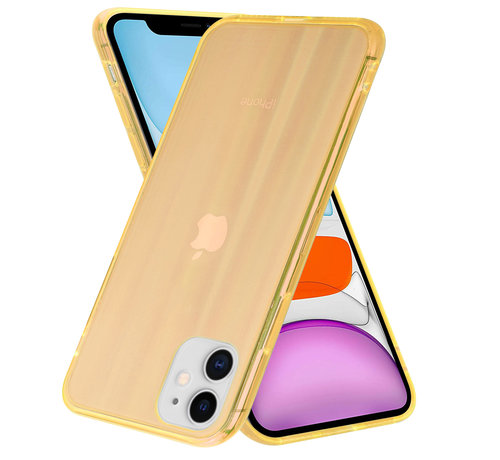 ShieldCase® Shieldcase Gekleurde laser case iPhone 11 (oranje)