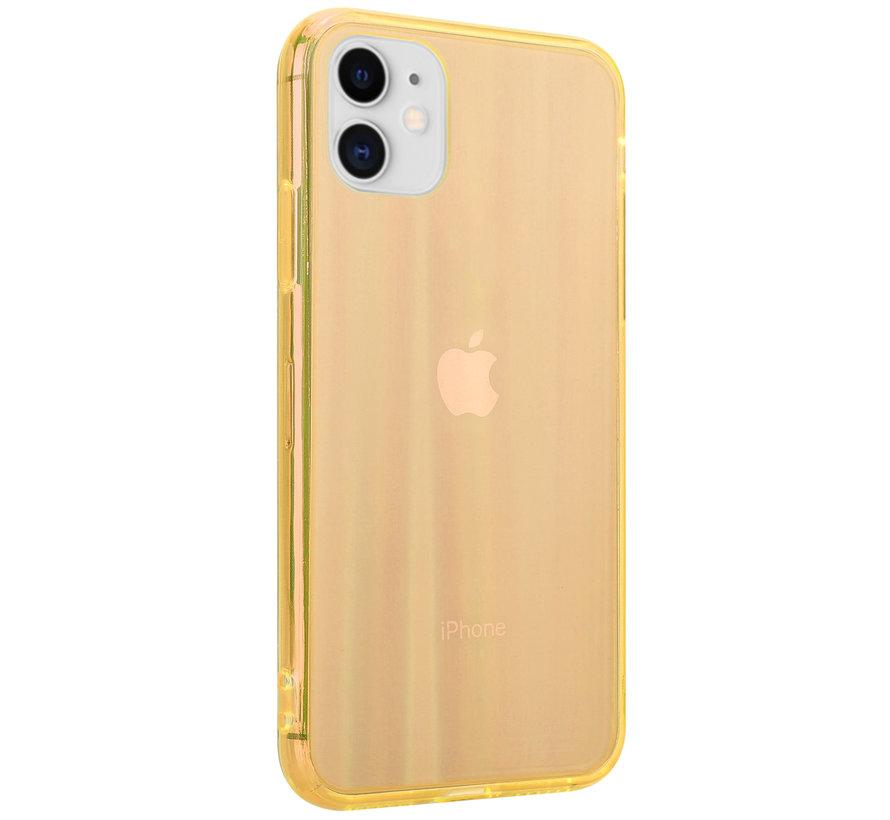 Shieldcase Gekleurde laser case iPhone 11 (oranje)