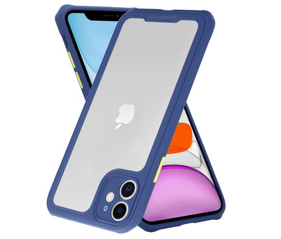 ShieldCase Shieldcase iPhone 11 full protection case (blauw-paars)