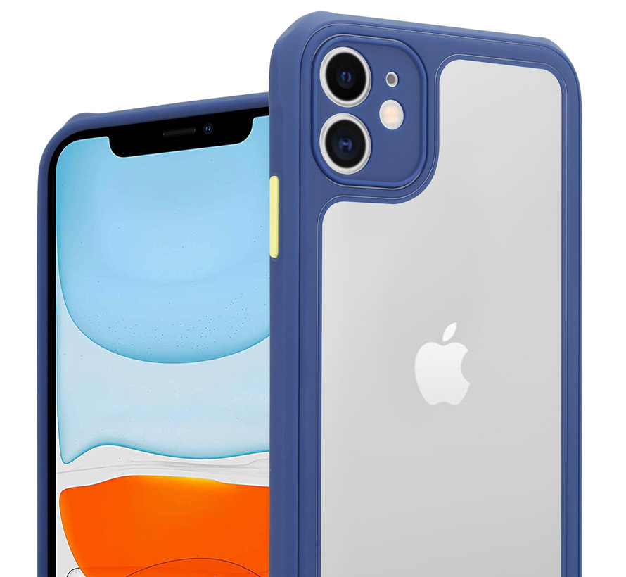 Shieldcase iPhone 11 full protection case (blauw-paars)