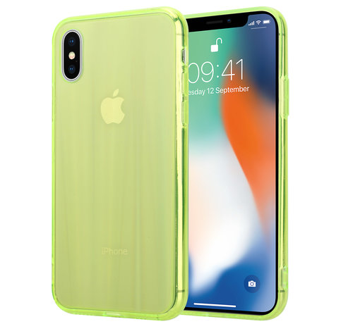 ShieldCase® Shieldcase Gekleurde laser case iPhone X / Xs (groen)