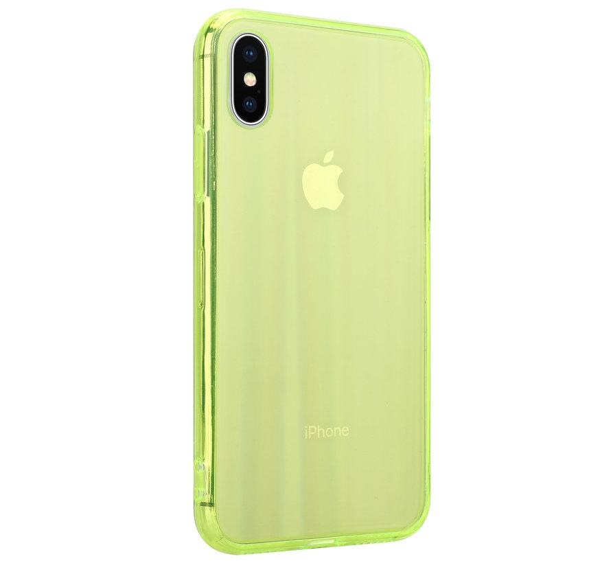 Shieldcase Gekleurde laser case iPhone X / Xs (groen)