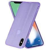 ShieldCase® Gekleurde laser case iPhone X / Xs (paars)