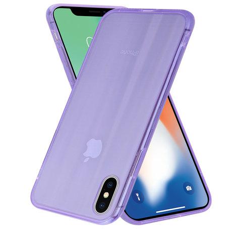 ShieldCase® Shieldcase Gekleurde laser case iPhone X / Xs (paars)