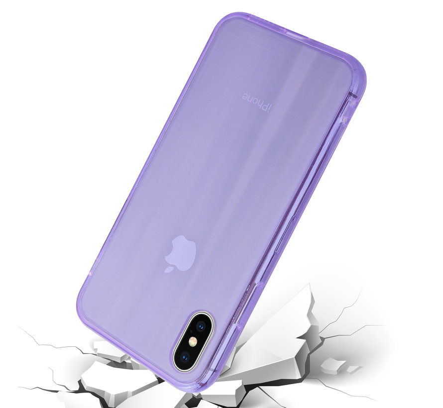 Shieldcase Gekleurde laser case iPhone X / Xs (paars)