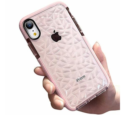 ShieldCase® ShieldCase diamanten case iPhone SE 2020 (roze)