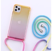 ShieldCase® Telefoonhoesje met koord iPhone 11 (geel/roze)
