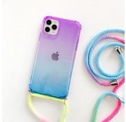ShieldCase® Telefoonhoesje met koord iPhone 11 (paars/blauw)