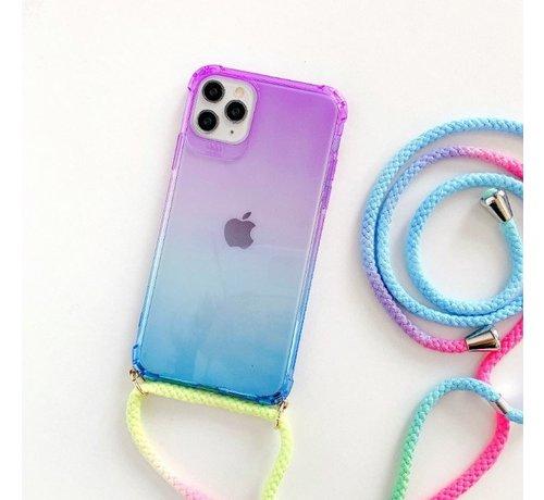 ShieldCase ShieldCase Telefoonhoesje met koord iPhone 11 (paars/blauw)