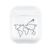 ShieldCase® Apple Airpods hard case (transparant met atlas patroon)