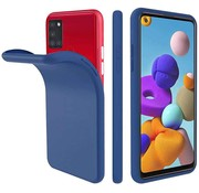 ShieldCase® Samsung Galaxy A21s siliconen hoesje (blauw)