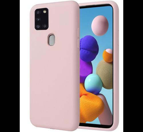 ShieldCase Shieldcase Samsung Galaxy A21s siliconen hoesje (roze)