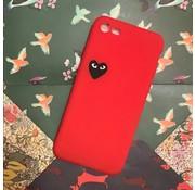 ShieldCase® Hoesje met hartje iPhone 7/8 (rood)