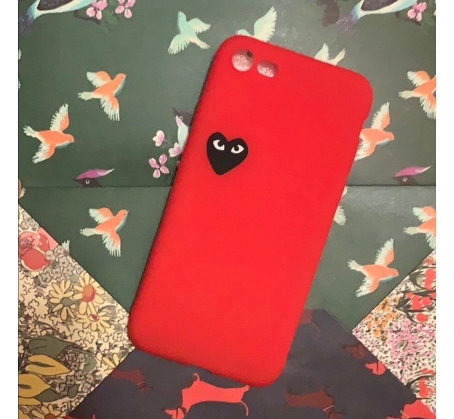 ShieldCase hoesje met hartje iPhone 7/8 (rood)