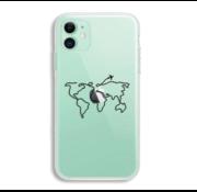 ShieldCase® iPhone 11 hoesje met atlas/reis patroon