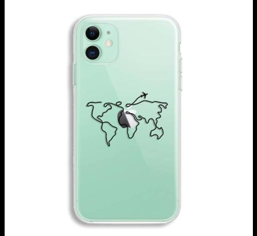 ShieldCase® ShieldCase iPhone 11 hoesje met atlas/reis patroon