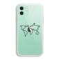 ShieldCase iPhone 11 hoesje met atlas/reis patroon