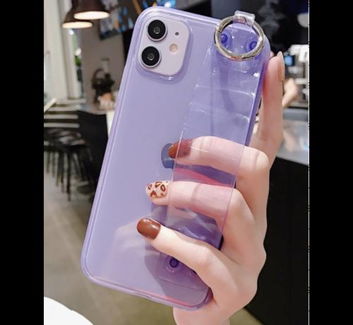 ShieldCase ShieldCase iPhone 11 multifunctioneel hoesje met handvat (paars)