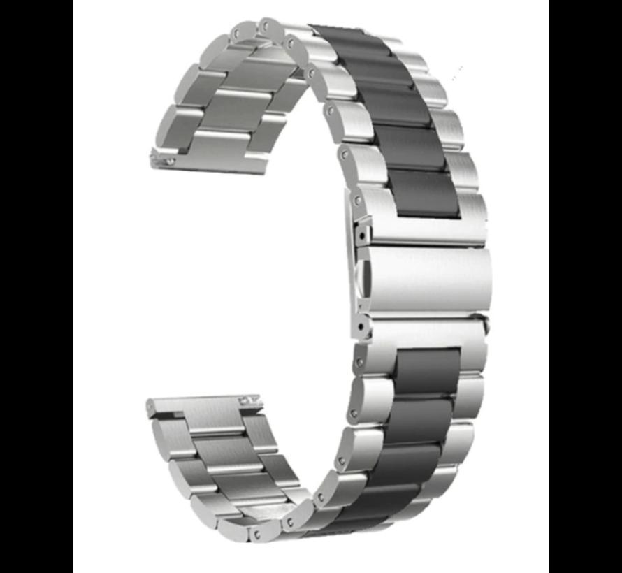 Garmin Vivoactive 3 stalen bandje (zilver/zwart)