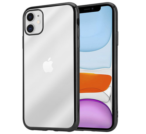 ShieldCase® ShieldCase iPhone 11 metallic bumper case (zwart)