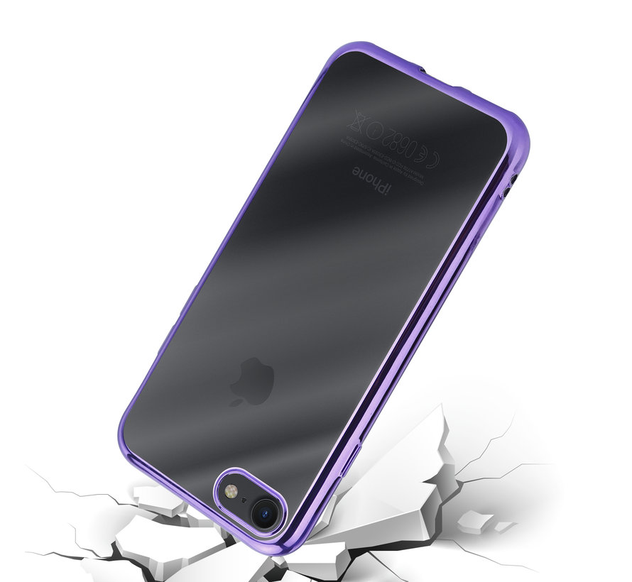 ShieldCase paarse metallic bumper case iPhone 8 / 7