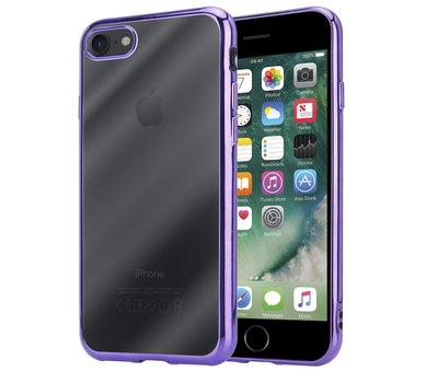 ShieldCase® ShieldCase paarse metallic bumper case iPhone 8 / 7