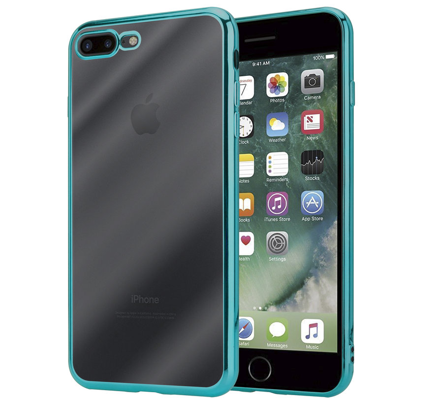 ShieldCase groene metallic bumper case iPhone 8 Plus / 7 Plus