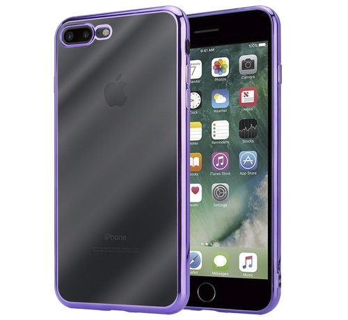 ShieldCase® ShieldCase paarse metallic bumper case iPhone 8 Plus / 7 Plus