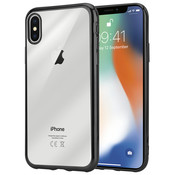 ShieldCase® Zwarte metallic bumper case iPhone X / Xs