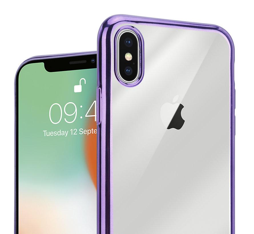 ShieldCase paarse metallic bumper case iPhone X / Xs