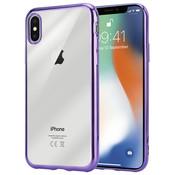 ShieldCase® Paarse metallic bumper case iPhone X / Xs