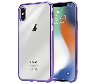 ShieldCase® ShieldCase paarse metallic bumper case iPhone X / Xs