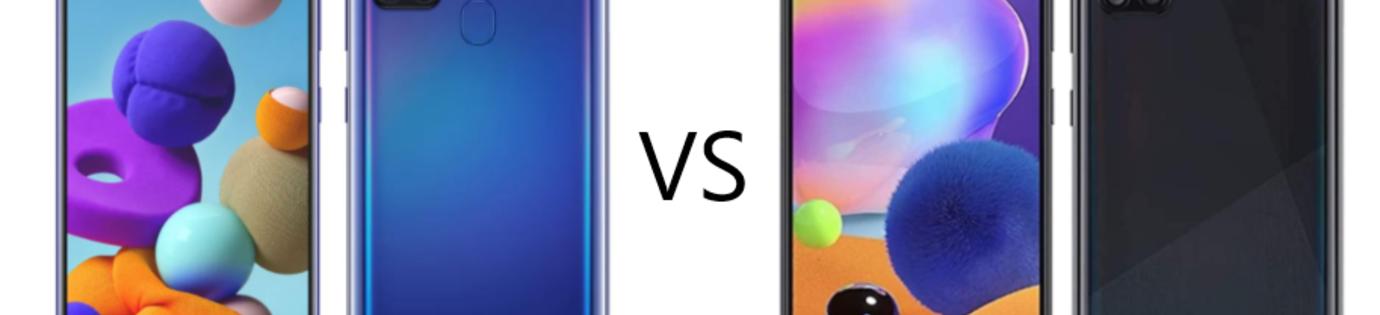 Samsung A31 VS A21s