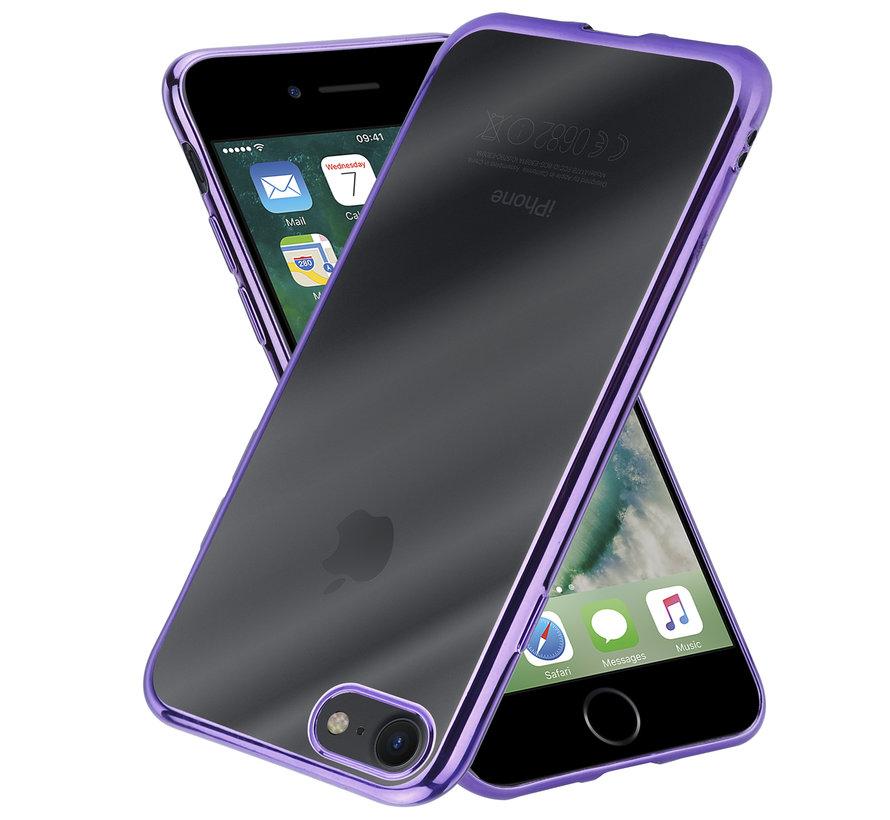 ShieldCase paarse metallic bumper case iPhone SE 2020