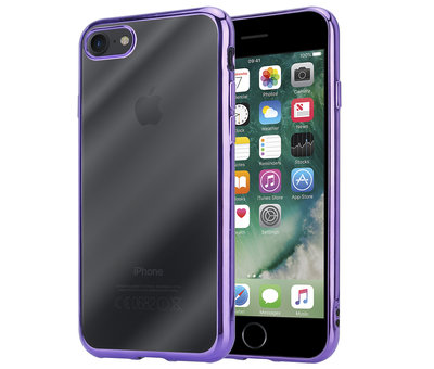 ShieldCase® ShieldCase paarse metallic bumper case iPhone SE 2020